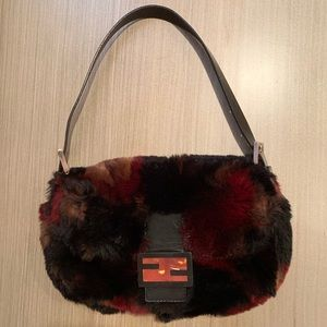 Fendi Iconic Mink Fur Baguette Bag